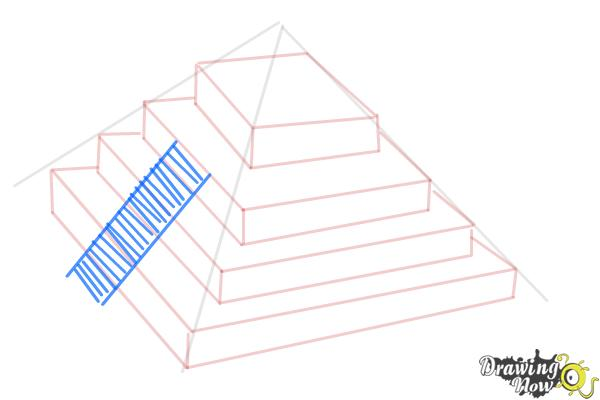 How to Draw a Ziggurat - Step 7