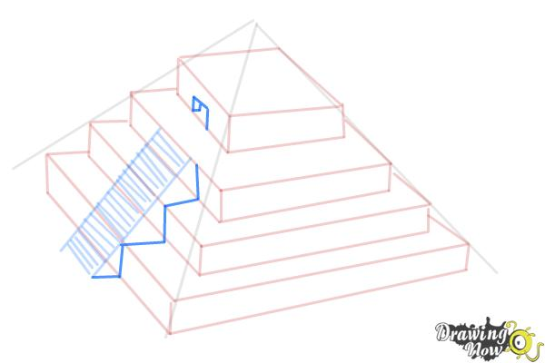 How to Draw a Ziggurat - Step 8
