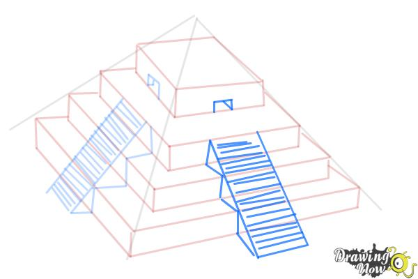 How to Draw a Ziggurat - Step 9