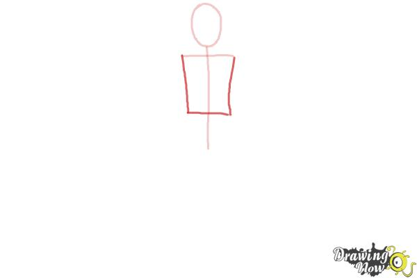 How to Draw a Body Outline - Step 2