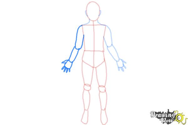 How to Draw a Body Outline - Step 9