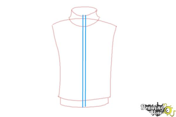 How to Draw a Jacket - Step 4