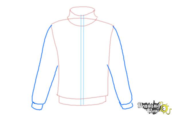How to Draw a Jacket - Step 5