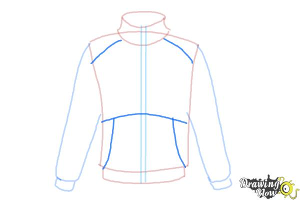 How to Draw a Jacket - Step 6