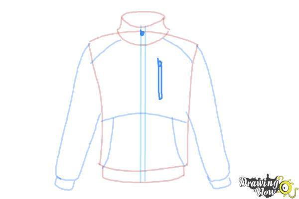 How to Draw a Jacket - Step 7