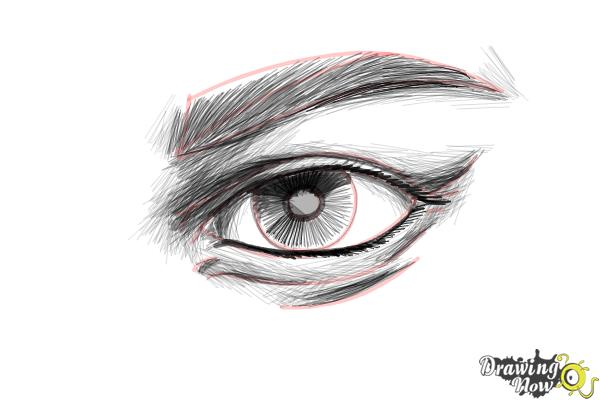 How to Draw an Eye Step by Step - Step 10