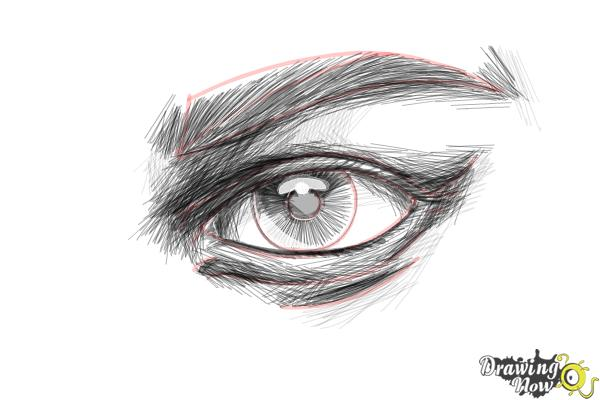 How to Draw an Eye Step by Step - Step 11