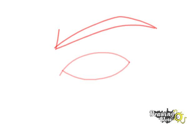 How to Draw an Eye Step by Step - Step 2