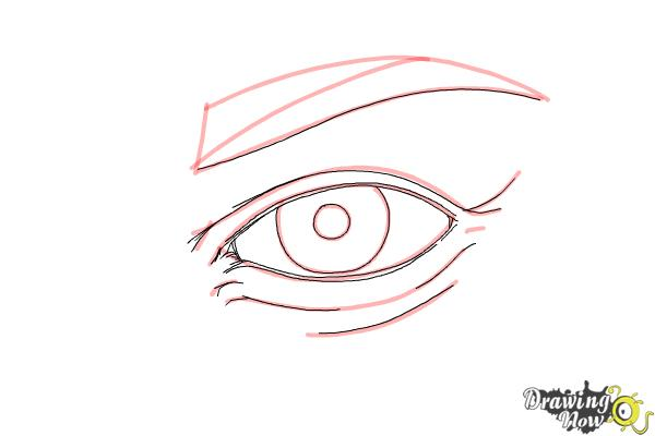 How to Draw an Eye Step by Step - Step 7