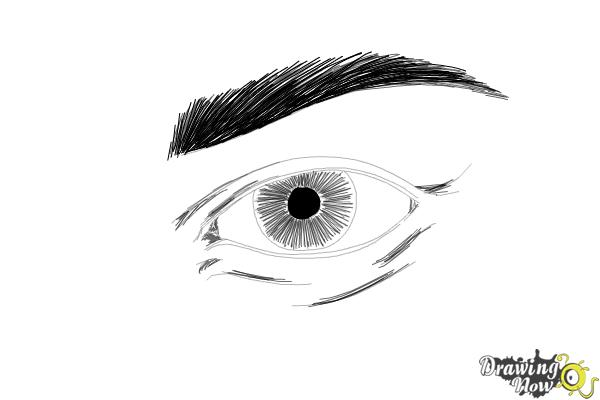 How to Draw an Eye Step by Step - Step 8
