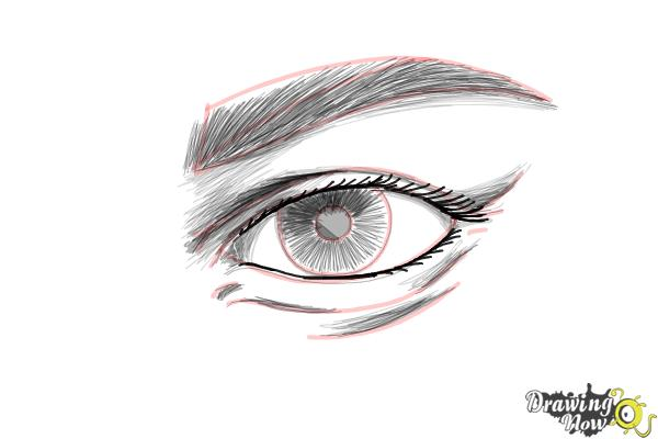 How to Draw an Eye Step by Step - Step 9