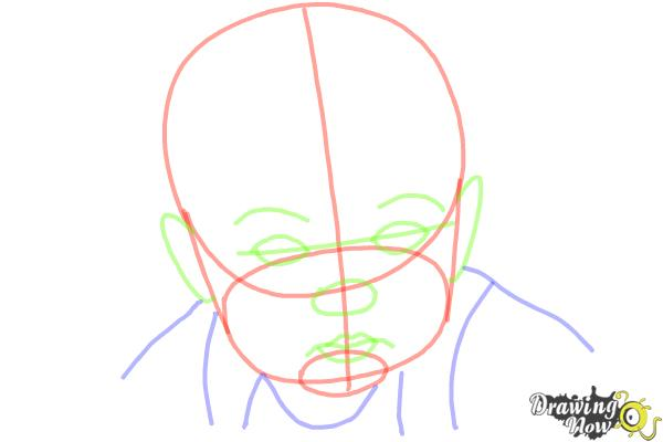 How to Draw a Baby Face - Step 5
