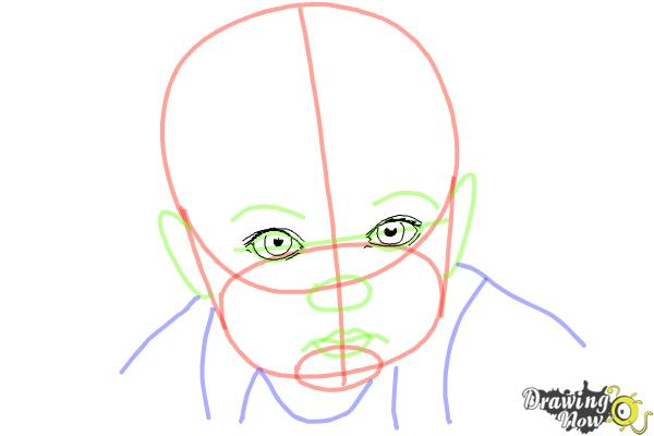How to Draw a Baby Face - Step 6