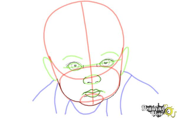 How to Draw a Baby Face - Step 7