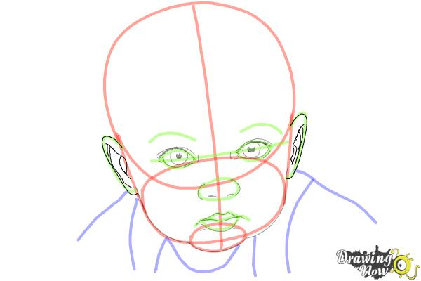 How to Draw a Baby Face - Step 8