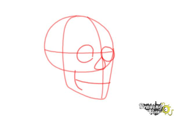 How to Draw a Skull Step by Step - Step 3