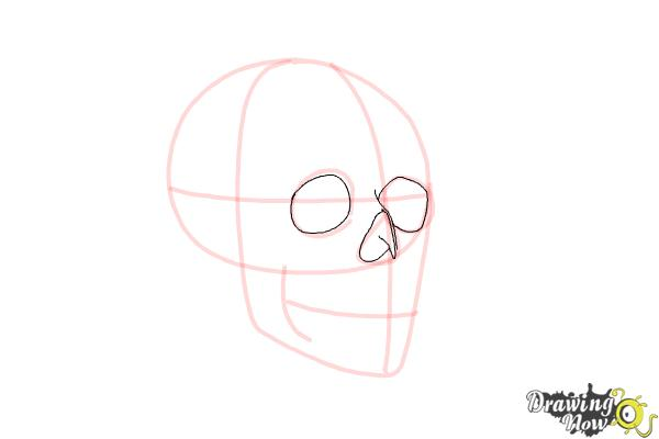 how to draw a human skull step by step