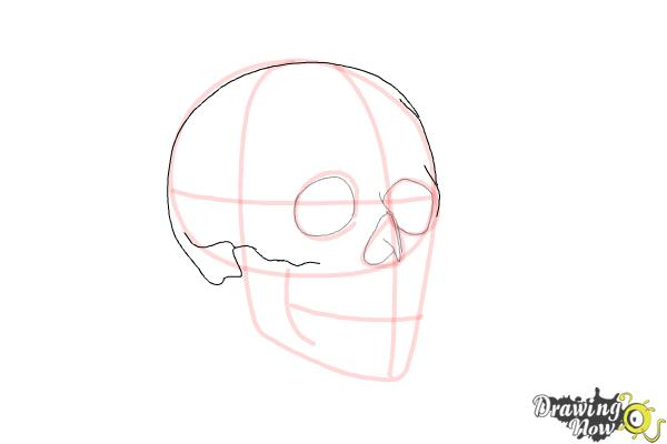 How to Draw a Skull Step by Step - Step 5