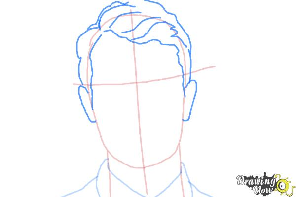 How to Draw Four, Tobias from Divergent - Step 4
