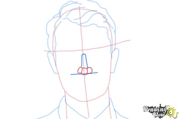 How to Draw Four, Tobias from Divergent - Step 5