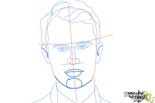 How to Draw Four, Tobias from Divergent - Step 7