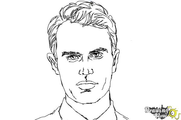 How to Draw Four, Tobias from Divergent - Step 8