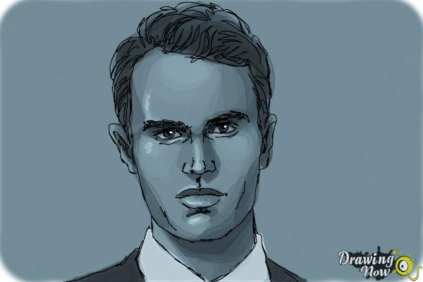 How to Draw Four, Tobias from Divergent - Step 9