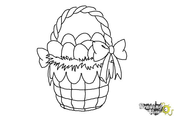 How To Draw An Easter Basket Step 9