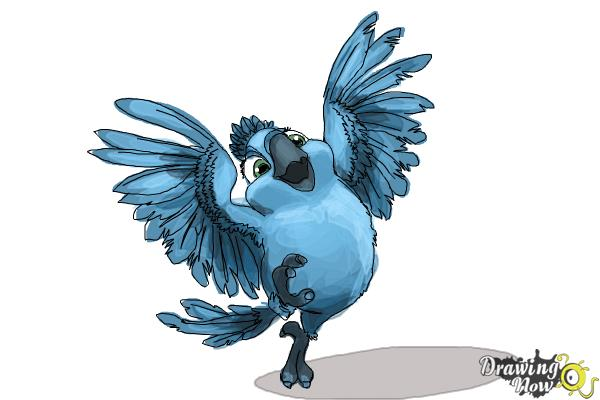 How to Draw Carla from Rio 2 - Step 11