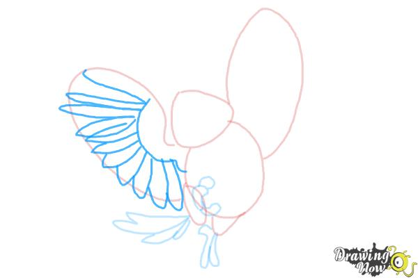 How to Draw Carla from Rio 2 - Step 6