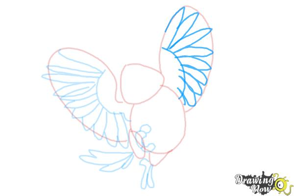 How to Draw Carla from Rio 2 - Step 7