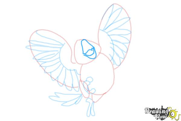 How to Draw Carla from Rio 2 - Step 8
