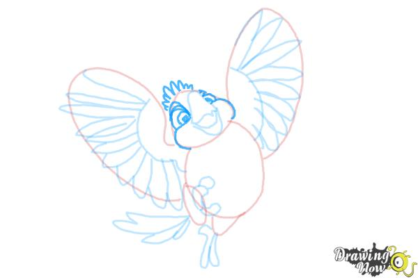 How to Draw Carla from Rio 2 - Step 9