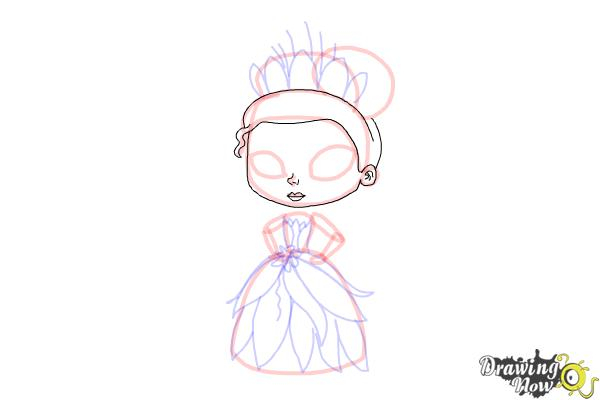 How to Draw Chibi Tiana - Step 10