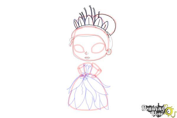 How to Draw Chibi Tiana - Step 11