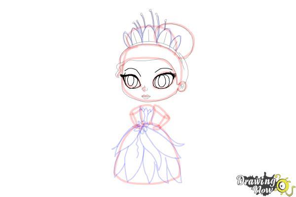 How to Draw Chibi Tiana - Step 12
