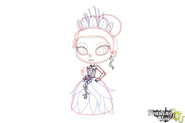 How to Draw Chibi Tiana - Step 13