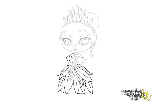 How to Draw Chibi Tiana - Step 14