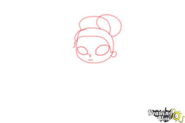 How to Draw Chibi Tiana - Step 3