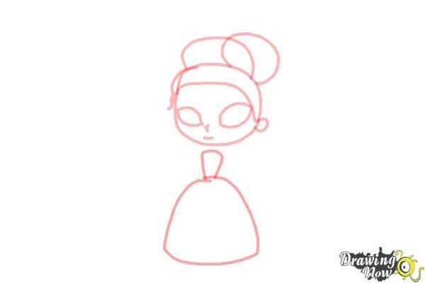 How to Draw Chibi Tiana - Step 4