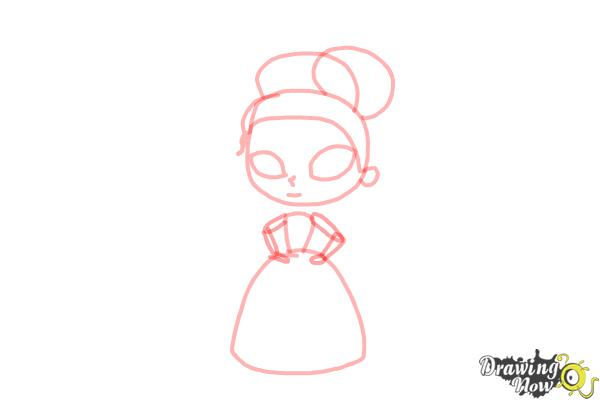 How to Draw Chibi Tiana - Step 5