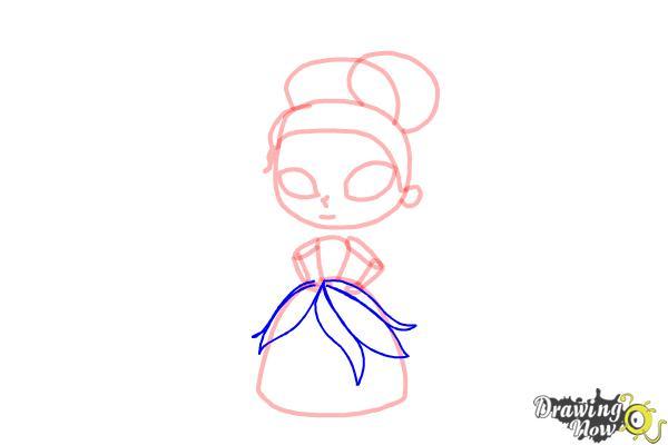 How to Draw Chibi Tiana - Step 6