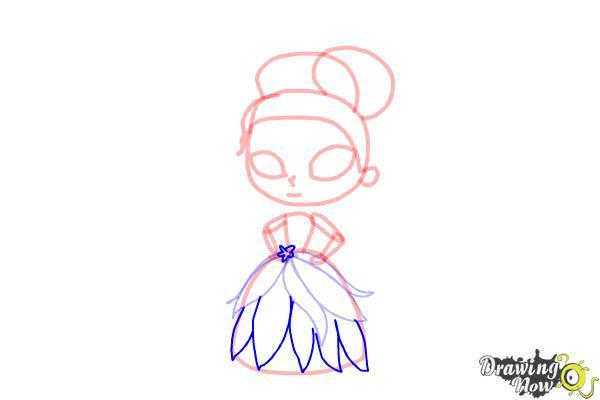 How to Draw Chibi Tiana - Step 7