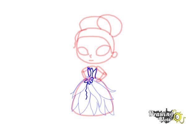 How to Draw Chibi Tiana - Step 8