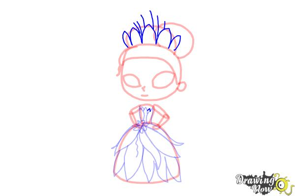 How to Draw Chibi Tiana - Step 9