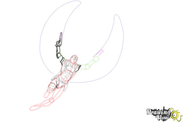 How to Draw Falcon from Captain America: The Winter Soldier - Step 11