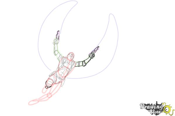How to Draw Falcon from Captain America: The Winter Soldier - Step 12