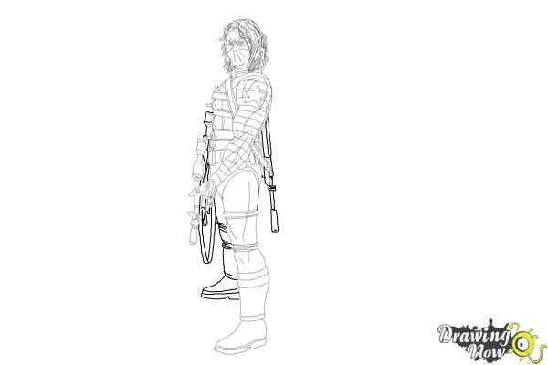 How to Draw Winter Soldier, Bucky from Captain America: The Winter Soldier - Step 19