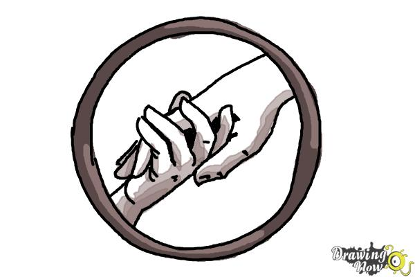 How to draw abnegation the selfless logo from divergent step 8