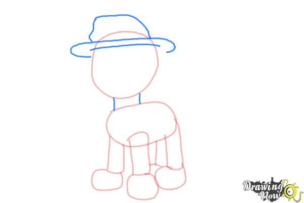 How to Draw Marshall from PAW Patrol - Step 4